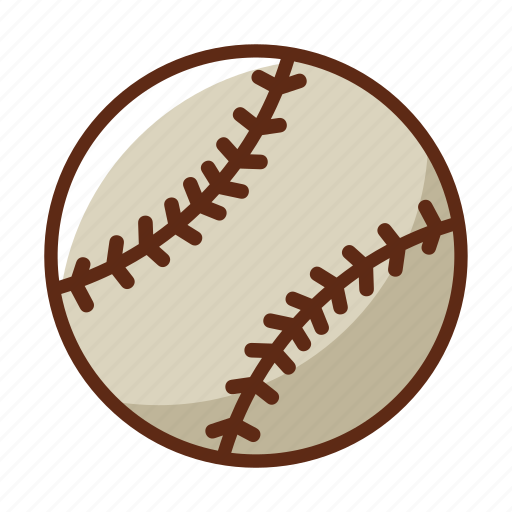 ball, baseball, gray, sports, stick, white icon