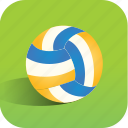 ball, beach, sport, volleyball icon