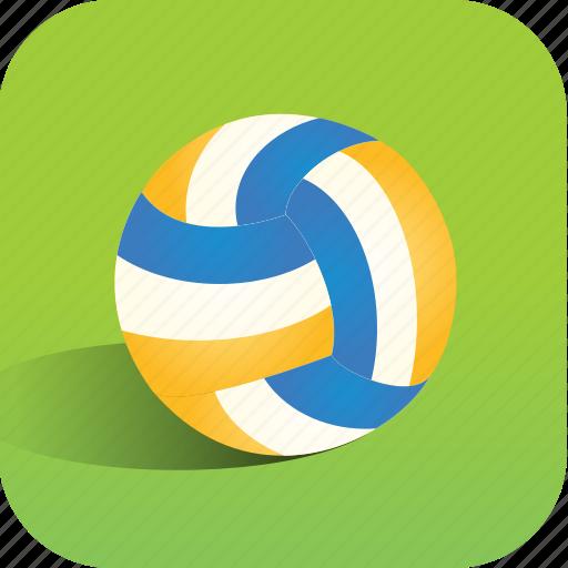 ball, beach, sport, volleyball icon