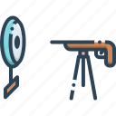 gun, rifle, rifle shooting, shooting, target icon