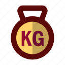 dumbbell, fitness, gym, kettlebell, weight icon