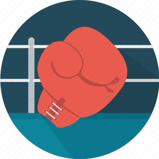 boxing, boxing ring, equipment, gloves, sport icon
