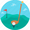ball, equipment, game, golf, golf club, play, sport icon