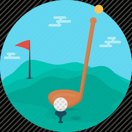 ball, equipment, game, golf, golf club, play, sport icon