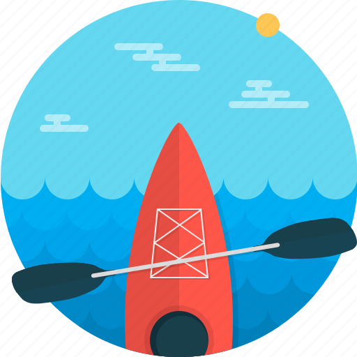 boat, canoe, kayak, kayaking, sport, sports, watersports icon