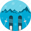 skiing, winter, sports, sky, snow, equipment
