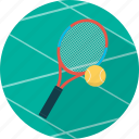 ball, equipment, game, racket, rocket, sport, tennis icon