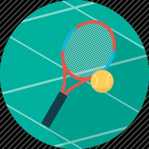 ball, equipment, game, racket, rocket, sport, tennis icon