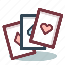 cards, casino, gambling, game icon
