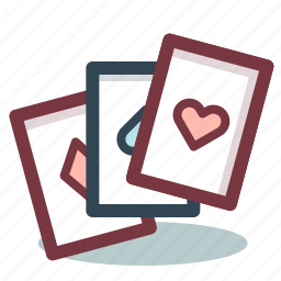 cards, casino, gambling, game icon