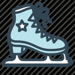 ice, ring, skates, sport icon
