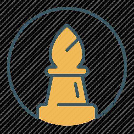 bishop, chess, circle, game, piece icon