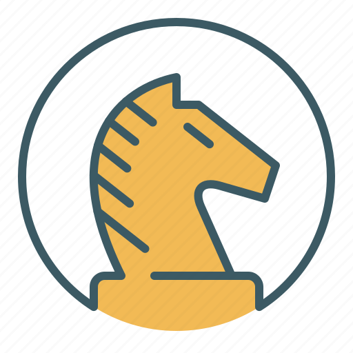chess, circle, game, knight, piece, strategy, tactics icon