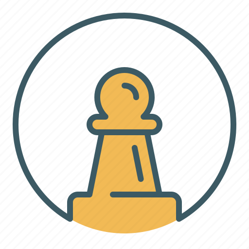 chess, circle, game, pawn, piece, soldier icon