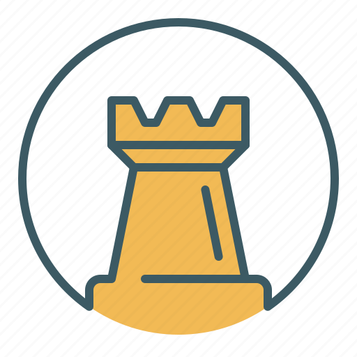 chess, circle, game, piece, rook, tower icon