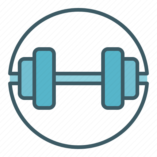 circle, dumbbell, fitness, gym, heavy, weight icon