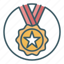 achievement, award, medal, prize, victory, win, winner icon