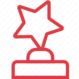achievement, award, favorite, prize, sport, star, trophy icon