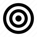 archer, circle, sport, target icon
