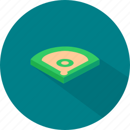 baseball, field, sport icon