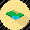 flag, golf field, hole, sport