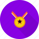 medalion, sport, winner icon