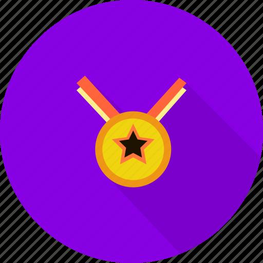 medalion, sport, winner icon