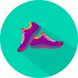 run, shoes, sport icon