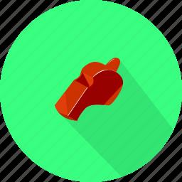 game, sport, start, whistle icon