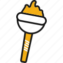 events, fire, olympic games, sport, torch icon