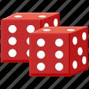 dies, game, luck, social
