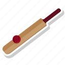 ball, bat, cricket, game
