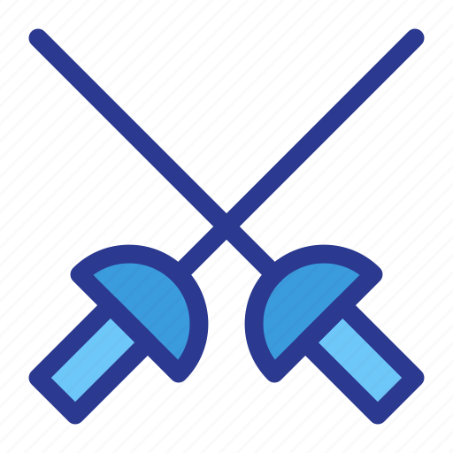 athlete, athletics, fencing, game, sports, sword, weapon icon