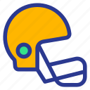helmet, athlete, sports, game, helm, athletics icon
