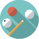 balls, billiards, carambolage, queue, sportix, sports, table icon