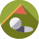 ball, flag, golf, green, hole, sportix, sports icon