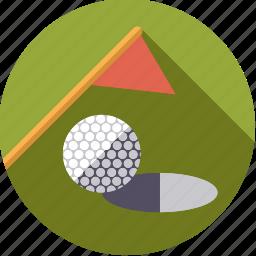 ball, flag, golf, green, hole, sportix, sports icon