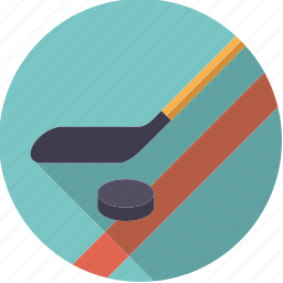 hockey stick, ice, icehockey, puck, sportix, sports, winter icon