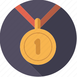 achievement, first, gold, medal, sportix, sports, winner icon