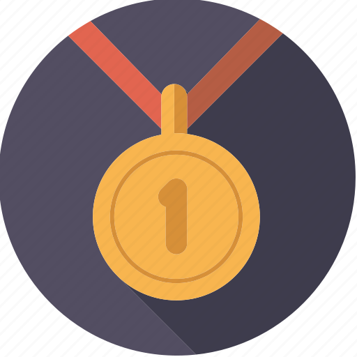 achievement, first, gold, medal, sportix, sports, winner icon