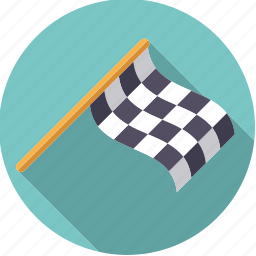 checkered, finish, flag, motor sports, racing, sportix, sports icon