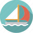 sail, sailboat, sailing, sportix, sports, water, water sports icon