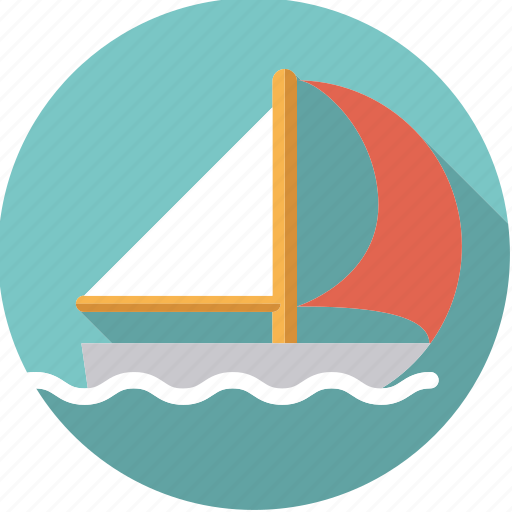 sail, sailboat, sailing, sportix, sports, water, water sports icon