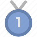 achievement, medal, position medal, prize, reward, victory icon
