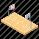 basketball arena, basketball court, playground, sports ground, tournament ground