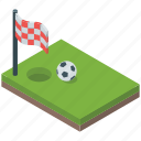 football ground, goalpost, soccer flag, soccer ground, tournament icon