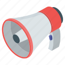 amplifier, bullhorn, loudspeaker, megaphone, promotion icon