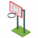 basketball goal, basketball net, goal net, playground, sports net icon