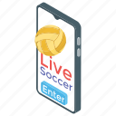live broadcasting, mobile match, online match, online sports, sports app icon
