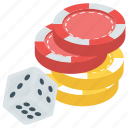 casino game, dice game, gambling, gaming, poker icon